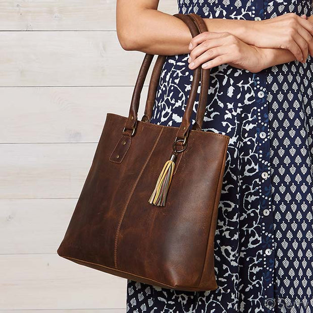 Handcrafted Rustic Genuine Leather Bag