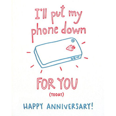 Phone Anniversary Letterpress Card by Good Paper