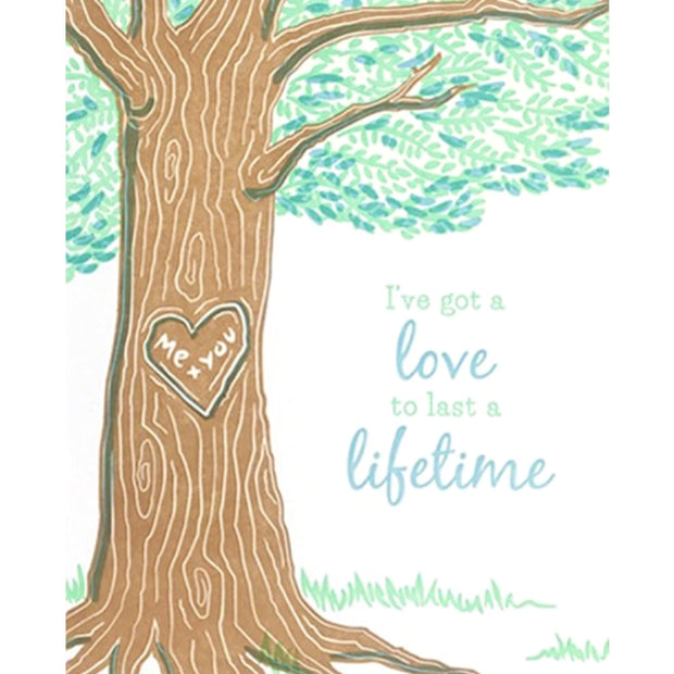 Lifetime Love Card by Good Paper