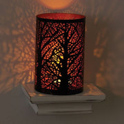 Copper-plated Iron Lantern with Woods scene lifestyle