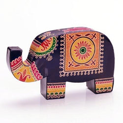 Fair Trade Elephant Embossed Leather Bank