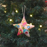 Recycled Patchwork Shisha Star Ornament lifestyle