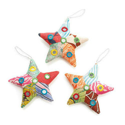 Recycled Patchwork Shisha Star Ornament
