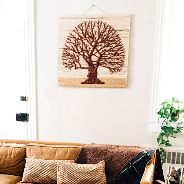 Tree of Life Jute Wall Hanging lifestyle