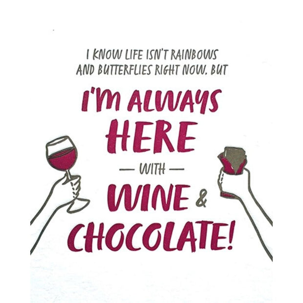 Wine and Chocolate Encouragement Card