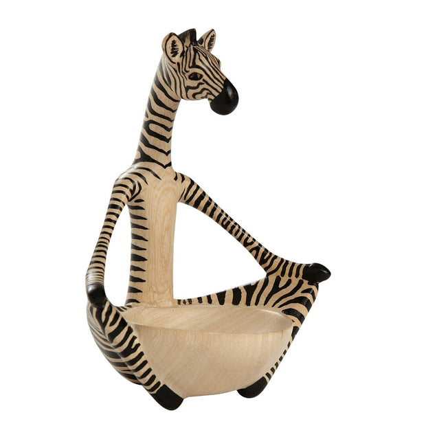 Sitting Yoga Zebra Wood Bowl