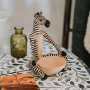 Sitting Yoga Zebra Wood Bowl lifestyle