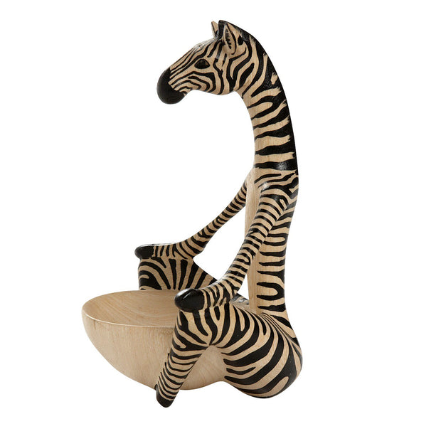 Sitting Yoga Zebra Wood Bowl sideview