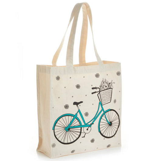 Canvas Screen-printed Bicycle Tote