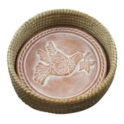 Peace Dove Bread Terracota Warmer & Basket