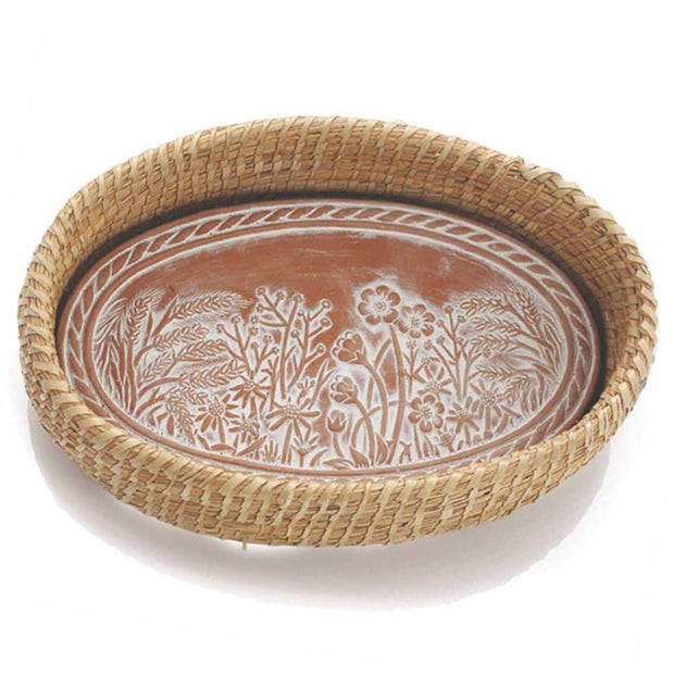 Spring Meadow Breadwarmer in Natural Basket