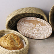 Spring Meadow Breadwarmer in Natural Basket lifestyle