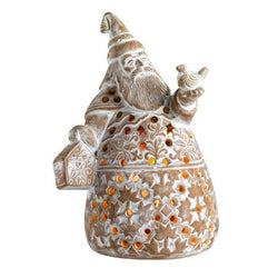 Terracotta Santa Claus Holiday Lantern