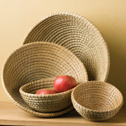 Round Nesting Basket Set in shape of bowls