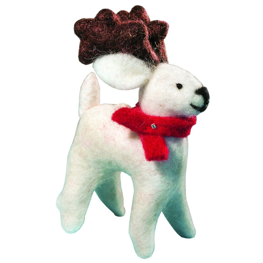 Felted Arctic Caribou Ornament