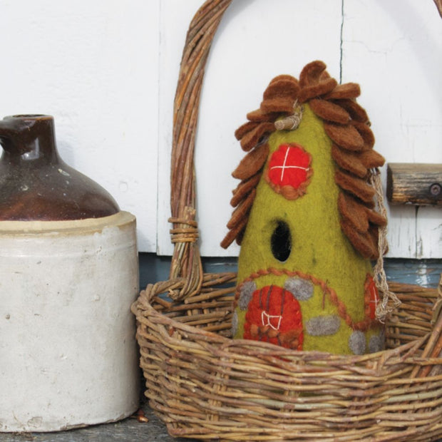 Felted Wool Birdhouse: Forest House lifestyle