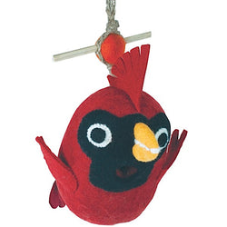 Wild Woolies Felted Wool Birdhouse: Baby Cardinal