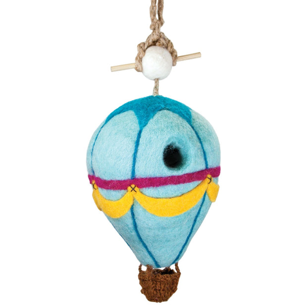 Felted Wool Birdhouse: Hot Air Balloon