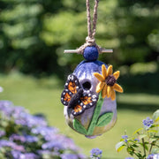 Felted Wool Birdhouse - Butterfly Garden lifestyle