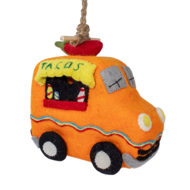 Felted Wool Birdhouse: Taco Truck