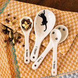 Set of Four Kitty Cat Prints Measuring Spoons lifestyle