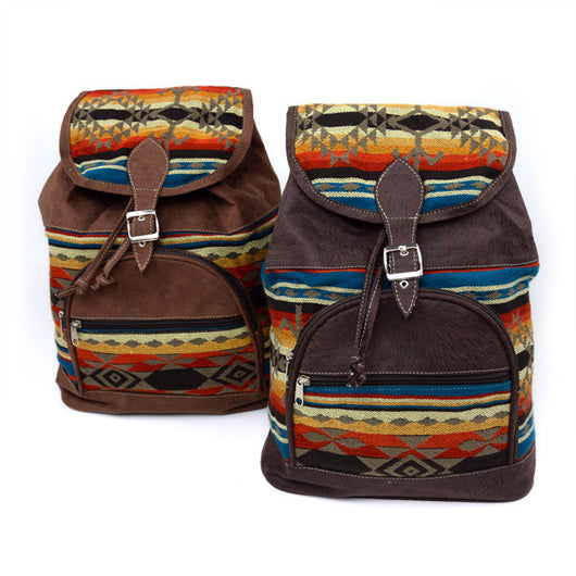 Fabric and Faux Leather Dreamer's Backpack