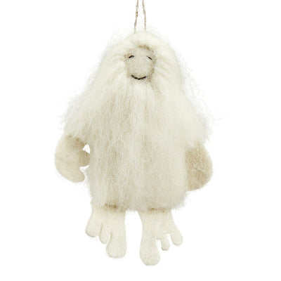 Snow Yeti Felt Ornament