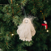 Snow Yeti Felt Ornament lifestyle