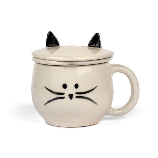 Kitty Cat Mug and Tea Ceramic Strainer