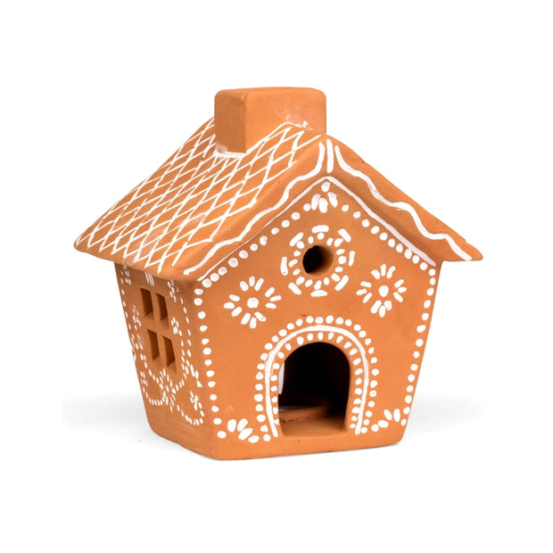 Gingerbread House Terra Cotta Votive Holder