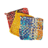 Recycled Sari Cloth Hot Mats - Set of 3