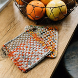 Recycled Sari Cloth Hot Mats - Set of 3 - lifestyle