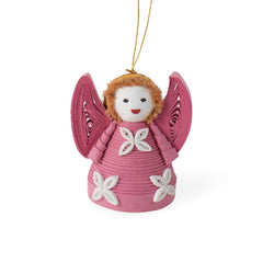 Pink Quilled Angel Ornament