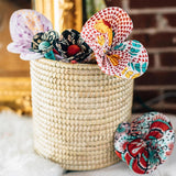 Assorted Recycled Cotton Sari Fabric Flowers lifestyle