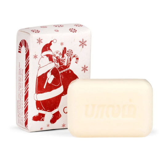 Santa Claus Candy Cane Peppermint Scented Soap Bar 3.2oz