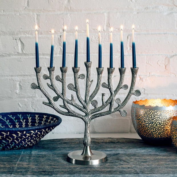 Aluminum Tree of Life Menorah lifestyle