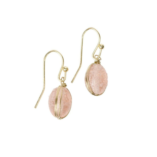 Blush Glass Bead Earrings