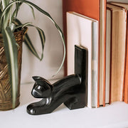 Black Cat Palewa Soapstone Bookends detail