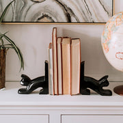 Black Cat Palewa Soapstone Bookends lifestyle
