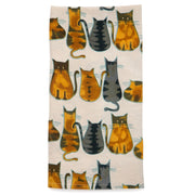 Kitty Print Cat Love Tea Towel
