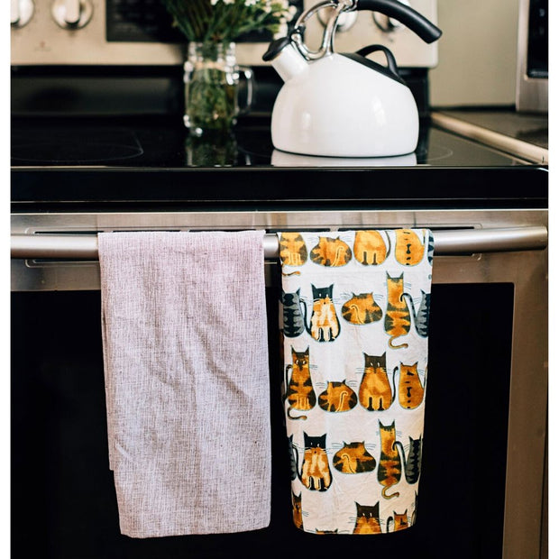 Kitty Print Cat Love Tea Towel lifestyle