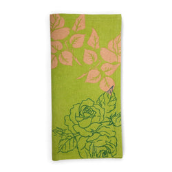 Spring Green Flower Cotton Tea Towel