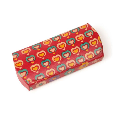Hearts Leather Glasses Hard Case