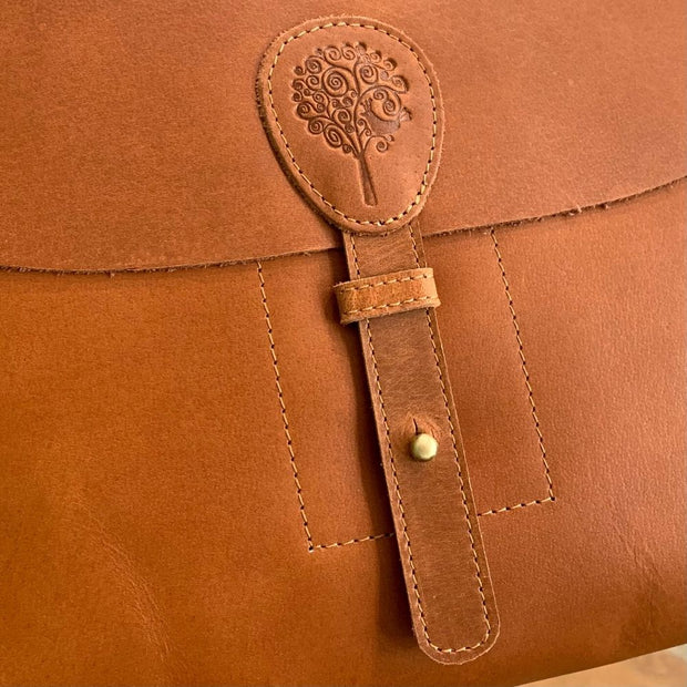 Eco-Leather Saddle Bag detail