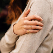Celestial Goldtone Adjustable Ring - lifestyle