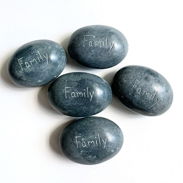 Stone Paperweight - Family group