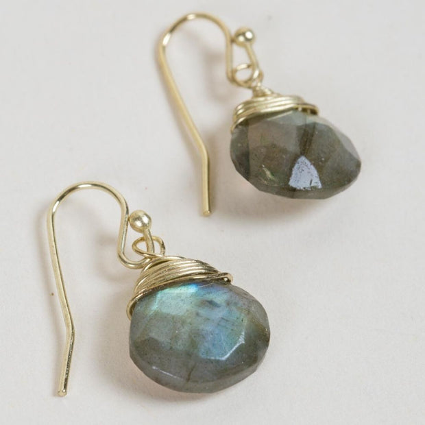 Intuition Labradorite Earrings detail