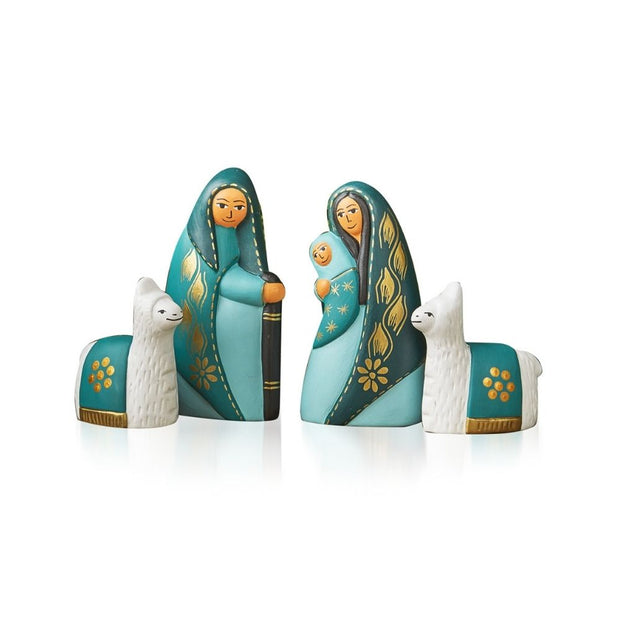 Tranquil Teal Nativity Set