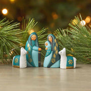 Tranquil Teal Nativity Set lifestyle