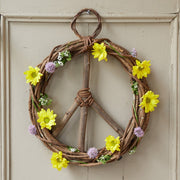 17-inch Wood and Vine Peace Wreath lifestyle